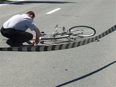 biciclist grav accidentat