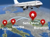 Veneţia, Torino, Bucureşti – Zbor direct fără escală!