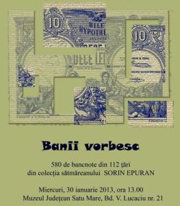 Expozitie bancnote Banii Vorbesc
