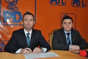 Cosmin Ratiu, Adrian Cozma, conferinta presa PDL Satu Mare