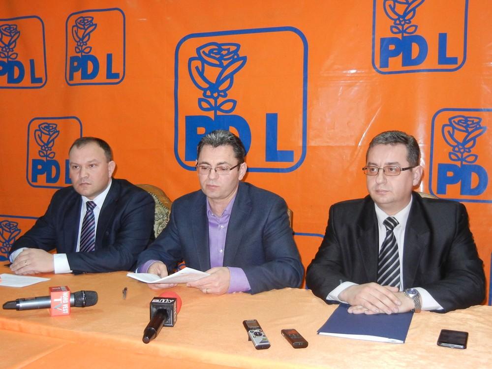 Claudiu Ardelean, Petre Muresan, Sorin Ghilea, conferinta PDL Satu Mare