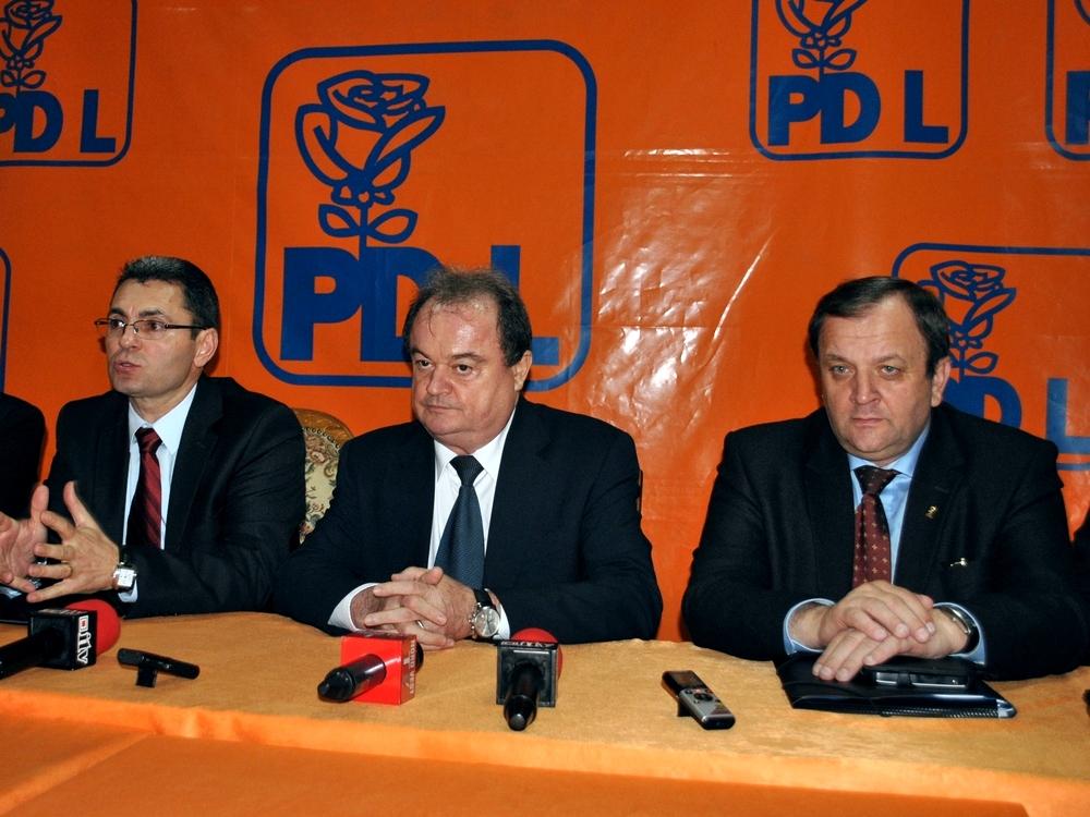 Vasile Blaga, Gheorghe Flutur, Petre Muresan, conferinta, PDL Satu Mare