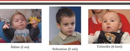 Adam, Cristofer, Sebastian, Campania Reda-mi zambetul!, Caritas Satu Mare