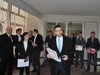 Tinerii de la Forța Civică Satu Mare au depus o petiție la Prefectură pe tema Schengen