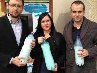 Membrii Organizației de Tineret Forța Civică Satu Mare susţin laptele românesc