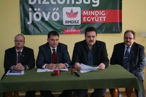 deputat Kereskenyi Gabor, deputat Cseke Attila, senator Pataki Csaba, deputat Erdei D. Istvan