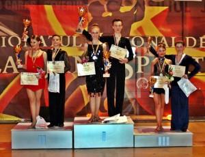 Sătmăreni câştigători la Campionatul național dans sportiv
