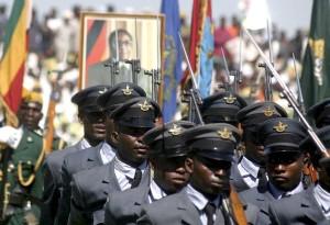 President Robert Mugabe at the 28th anniversary of Independence celebrations, Harare, Zimbabwe - 18 Apr 2008