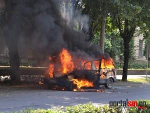 incendiu masina Vasile Lucaciu