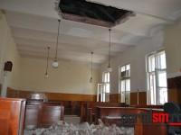 tavan cazut tribunalul satu mare (5)