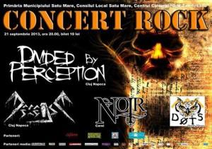 Afis concert rock 21 septembrie