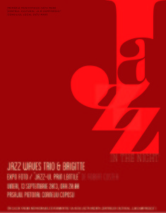 Afis jazz 13 septembrie