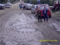 Drumul judetean din centrul comunei Calinesti Oas