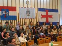 Elevi din Franţa, la Primăria Satu Mare