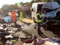 Şase români au murit într-un accident lângă Roma. Şoferul era din Satu Mare (FOTO)