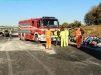 Scontro sulla A1 vicino Roma, 6 morti