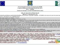 GAL Sud-Vest Satu Mare: Apel de selecţie al proiectelor pe măsura 121