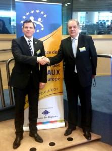 Alaturi de presedintele COR al grupului ALDE - Verkerk  Bas