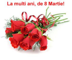 8 martie trandafiri