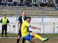Gabriel Cadar executand cornerul din care Olimpia a deschis scorul