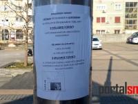 Loteria din Ungaria, reclamă pe stâlpii din centrul municipiului Satu Mare