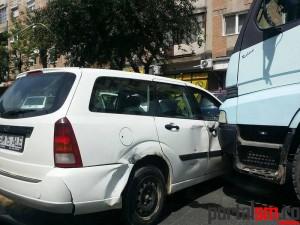 Accident intersectie Crinul, Satu Mare (1)