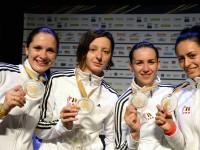 Echipa feminină de spadă a României, MEDALIE DE AUR la Jocurile Europene Baku 2015