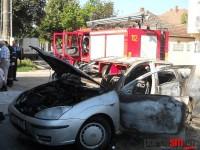 Mașină în flăcări la Satu Mare