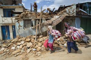 Nepal sinistrati