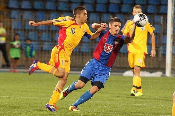 Carlo Erdei, in tricoul nationalei U18
