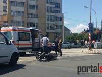 Cititorii în acţiune: Accident la Finanţe, șoferul microbuzului era beat (FOTO)