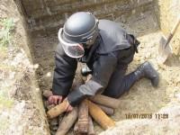 30 elemente de muniție, detonate la Moftin