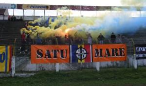 Suporterii echipei FC Olimpia Satu Mare