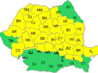 Codul galben de furtuni, prelungit până miercuri la Satu Mare