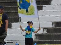 Micutul suporter al Olimpiei a venit la stadion cu un steag inventiv