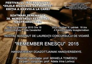 Afis Concert Enescu - Filarmonica