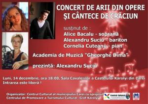 afis concert concert arii si cantece Craciun_