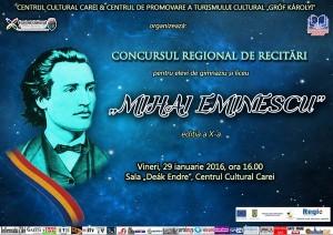 Afis Concurs Recitari Eminescu 2016 pres