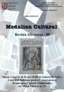 medalion cultural 80 afirmarea