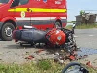 UPDATE Accident mortal în județ. Un motociclist a murit pe loc