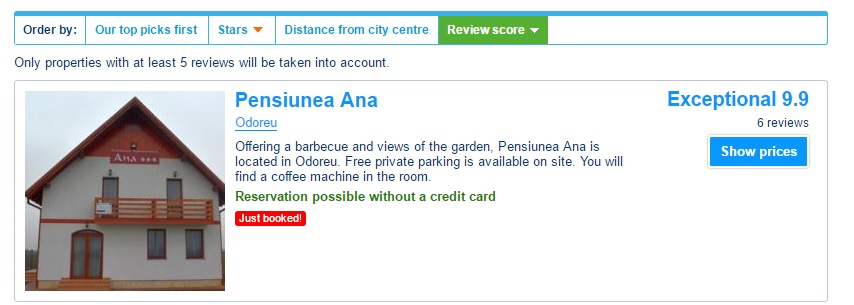 pensiune booking review