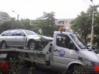 Accident grav pe Drumul Careiului. Un motociclist a ajuns la spital (FOTO)