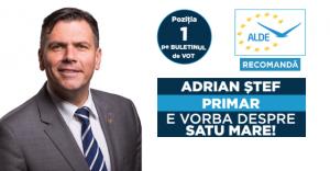 Adrian Ștef: Pentru a putea progresa, Satu Mare are nevoie de o schimbare reală