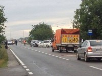 Accident la Decebal. Traficul rutier, blocat