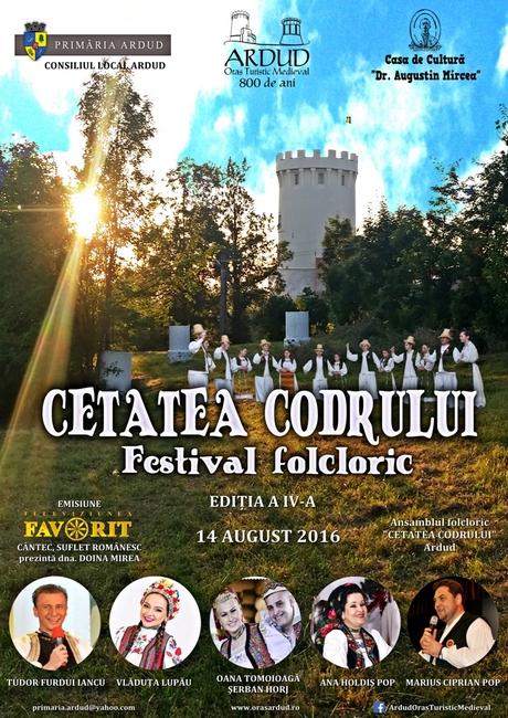 Afis Festival Folcloric Cetatea Codrului 2016