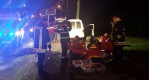Accidente grave la Satu Mare. Trei victime rănite