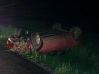 Autoturism răsturnat în șanț. A pierdut controlul mașinii din cauza vitezei