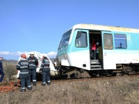 Trenul REGIO a lovit un biciclist. A scăpat cu viață