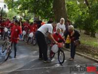 """""""Pregăteşte-ţi bicicleta şi îndrăzneşte"""" – o acţiune a OFSD Satu Mare (FOTO)"""