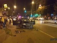 Accident produs de un șofer beat pulbere